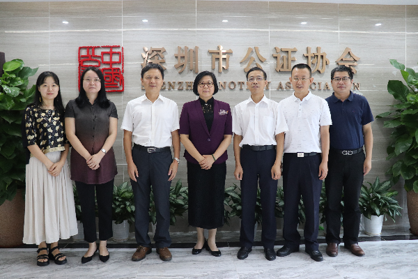 市司法局党委副书记、副局长蒋小文一行到市公证协会调研工作